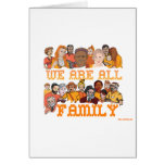 JEWISH WE ARE ALL FAMILY GREETING CARDS