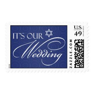 Jewish Wedding Invitation Medium Stamps