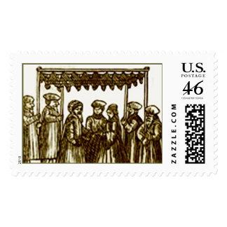 Jewish wedding  postage stamps