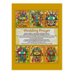 Jewish Wedding Prayer Golden Hamsa Postcard