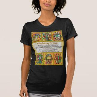 Jewish Wedding Prayer Golden Hamsa Tee Shirt