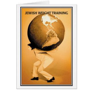 Jewish Weight Training Birthday Card