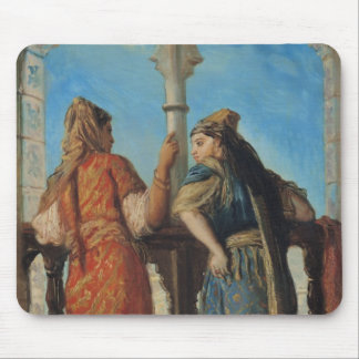 Jewish Women at the Balcony, Algiers, 1849 Mouse Pad