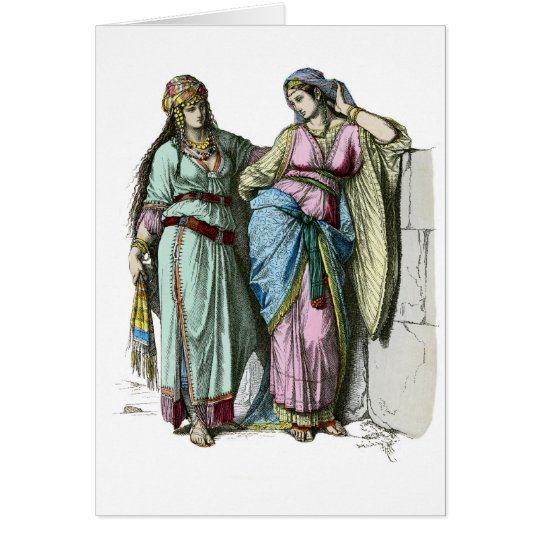 Jewish women from before the time of Christ Card
