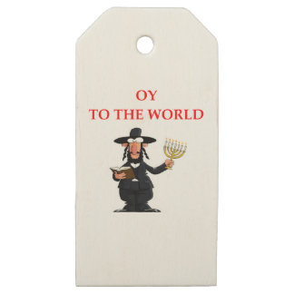 jewish wooden gift tags