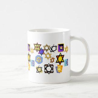 JewishStars, Channuka Mug, Jewish Coffee Mug