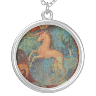 Jewlery del arte del unicornio del renacimiento collar plateado