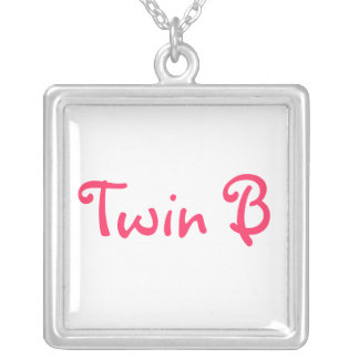 Jewlry just for Twins Square Pendant Necklace