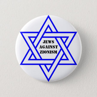 Jews against zionism pinback button
