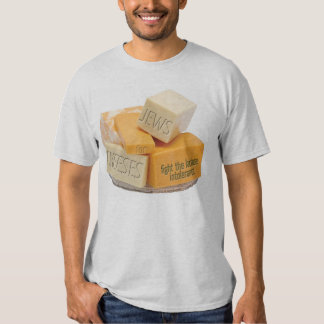 Jews for Cheeses - fight the lactose intolerance T Shirt