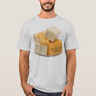 Jews for Cheeses - fight the lactose intolerance T-Shirt