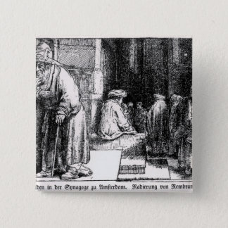 Jews in the Synagogue in Amsterdam Button