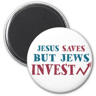 Jews Invest - Jewish finance humor 2 Inch Round Magnet