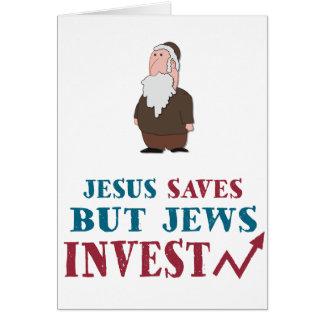 Jews Invest - Jewish finance humor Card