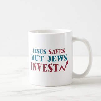 Jews Invest - Jewish finance humor Classic White Coffee Mug