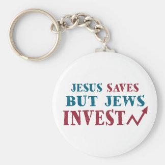 Jews Invest - Jewish finance humor Keychain
