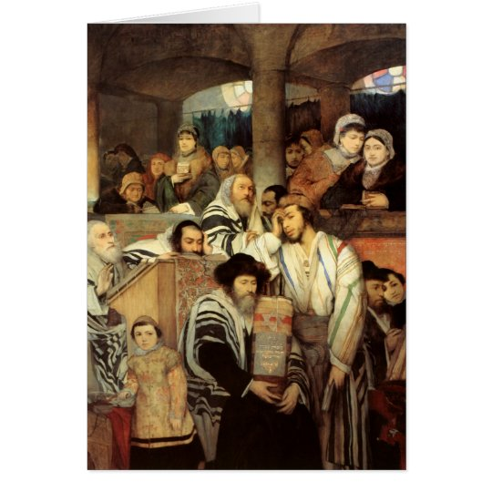 Jews Praying by Maurycy Gottlieb - Circa 1878 Card