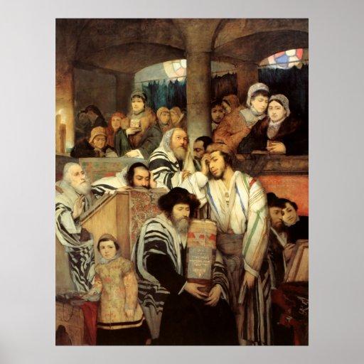 Jews Praying by Maurycy Gottlieb - Circa 1878 Posters