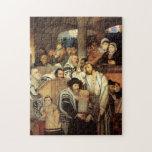 Jews Praying by Maurycy Gottlieb - Circa 1878 Jigsaw Puzzle