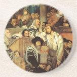 Jews Praying in the Synagogue on Yom Kippur Coaster