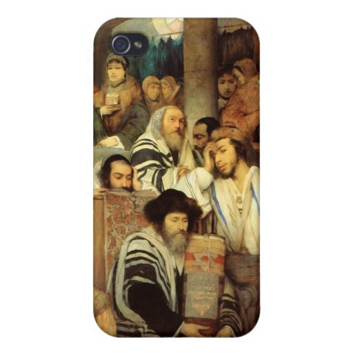 Jews Praying in the Synagogue on Yom Kippur Case For iPhone 4
