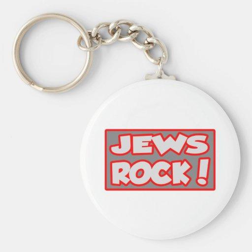 Jews Rock! Basic Round Button Keychain
