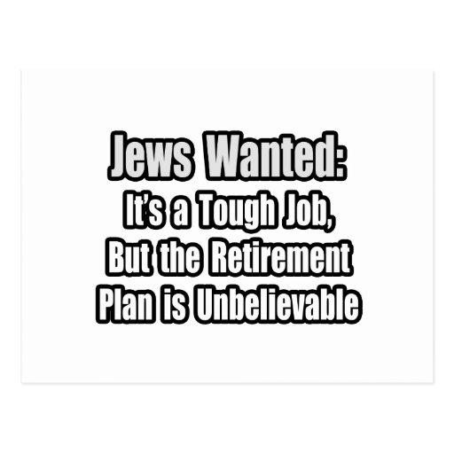 Jews Wanted... Post Card
