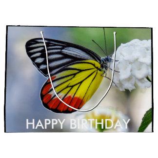 Jezabel pintado mariposa amarilla roja bolsa de regalo grande