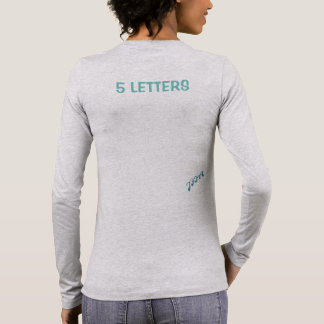 JFIA 5 Letters Woman Strong Shirts & Tops