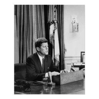 JFK Addresses The Nation Poster