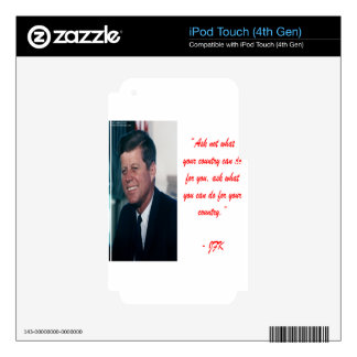 JFK & Ask Not Quote iPod Touch 4G Decals