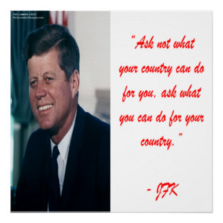 JFK & Ask Not Quote Poster