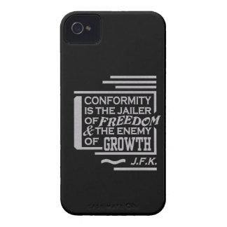 JFK Conformity Quote iPhone 4 Case-Mate customize