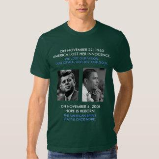 JFK delantero/trasero OBAMA, cita americana del Polera