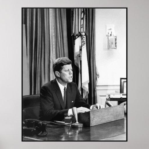 JFK dirige la nación -- Frontera Poster