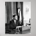 JFK dirige la nación Poster
