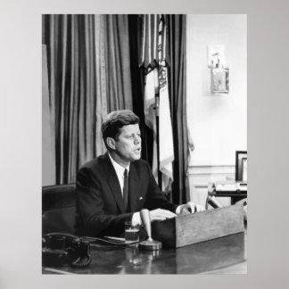 JFK dirige la nación Póster