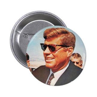 JFK en color vivo Pin Redondo 5 Cm