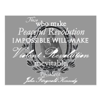 JFK en la revolución pacífica o violenta Postal