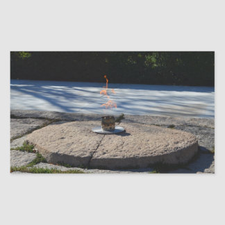 JFK Eternal Flame Rectangular Sticker