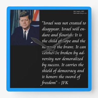 JFK & Famous Quote On Israel Wall Clock