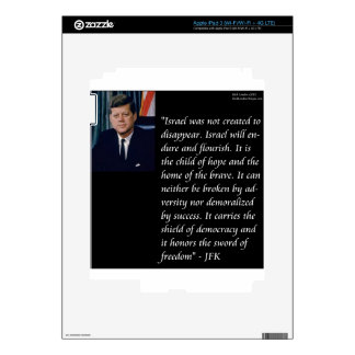 JFK & Famous Quote Re Israel iPad 3 Decals