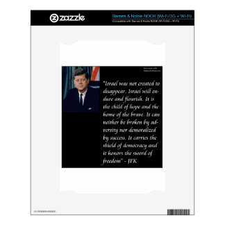 JFK & Famous Quote Re Israel Skin For The NOOK