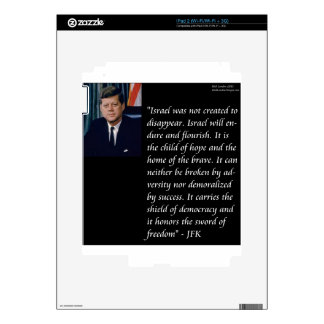 JFK & Famous Quote Re Israel Skin For The iPad 2