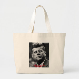 """JFK """"Forgive Not Forget"""" Wisdom Quote Gifts & Card Large Tote Bag"""