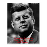 "JFK ""Forgive Not Forget"" Wisdom Quote Gifts & Card Postcard"