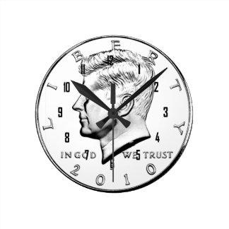 JFK HALF DOLLAR CLOCK