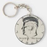 JFK Half Dollar key ring Basic Round Button Keychain