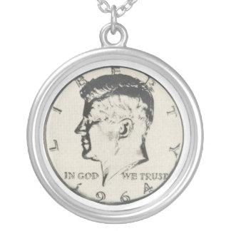 JFK Half Dollar necklace