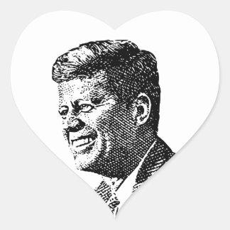 JFK - Heart Shaped Stickers